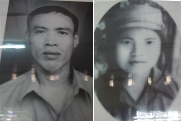 Di ảnh 2 liệt sỹ Cao Ngọc Hòa và Nguyễn Thị Tâm