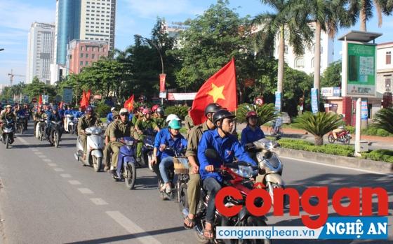 Các lực lượng tham gia diễu hành tuyên truyền phòng chống ma túy