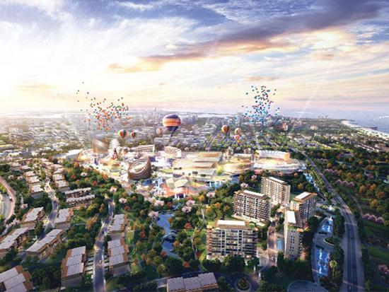 Phối cảnh một tiểu khu của dự án khu nghỉ dưỡng Nam Hội An.