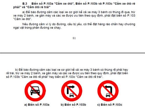 Biển cấm ôtô rẽ trái (phải) cũng không nói gì đến việc cấm quay đầu.