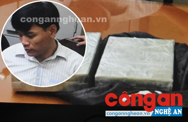Đối tượng Nguyễn Văn Lung và tang vật 2 bánh hêrôin