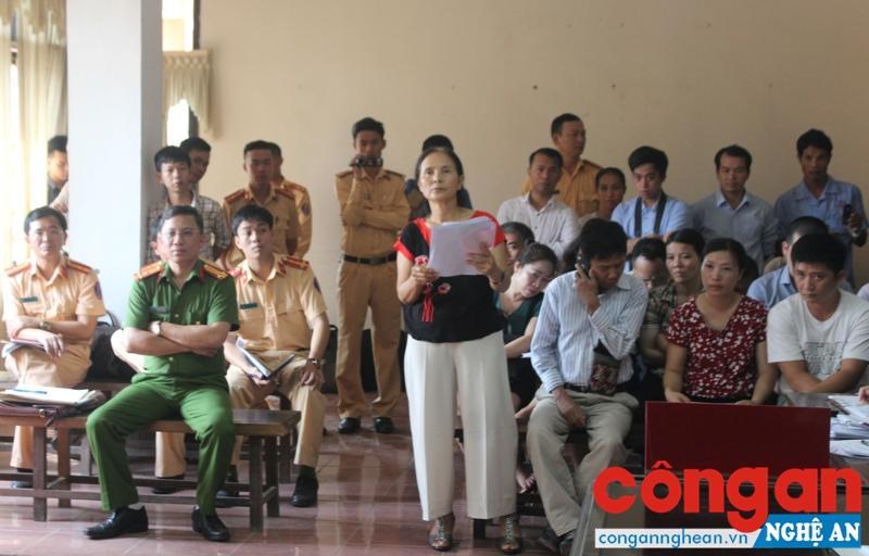 Người đại diện cho lái xe Phan Đình Anh tranh luận tại tòa