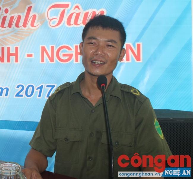 Anh Trịnh Minh Tâm phát biểu