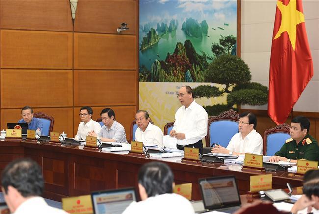 Thủ tướng Nguyễn Xuân Phúc chủ trì phiên họp Chính phủ chuyên đề pháp luật ngày 22/8