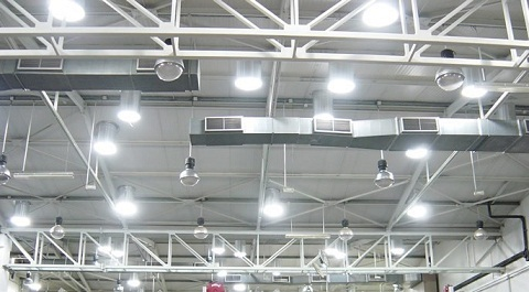 Minh họa ứng dụng của mô hình ống dẫn sáng tự nhiên tại nhà máy.