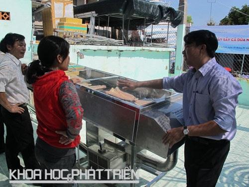 Máy sấy cá dứa được lắp đặt tại Cần Giờ, TP Hồ Chí Minh. Ảnh: K. Anh