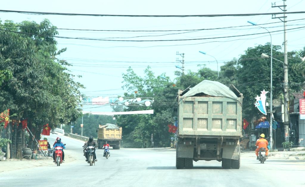 … Nối đuôi nhau chạy trên QL48 mà không gặp bất cứ sự trở ngại nào từ chính quyền địa phương lẫn lực lượng Thanh tra giao thông.