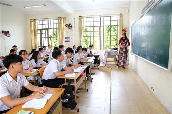 Một tiết học tại Trường THPT TP. Tây Ninh, tỉnh Tây Ninh. Ảnh: VGP/Đình Nam