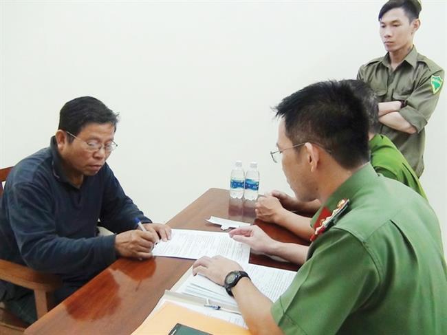 Đối tượng Châu Văn Khảm bị bắt giữ.