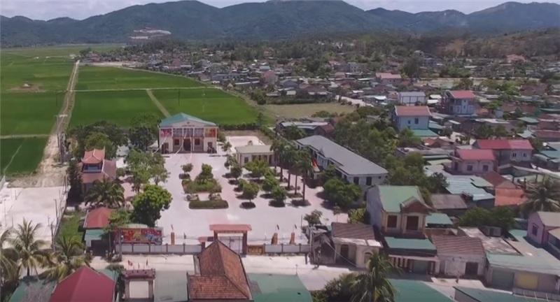 Một góc xã Nghi Công Nam nhìn từ trên cao