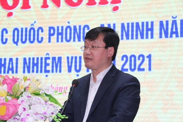 Đồng chí Nguyễn Đức Trung, Phó Bí thư Tỉnh ủy, Chủ tịch UBND tỉnh phát biểu khai mạc.