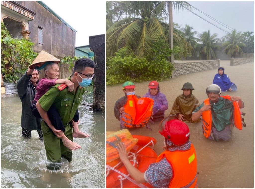 Công an các địa phương kịp thời sơ tán người dân khỏi vùng ngập lụt nguy hiểm